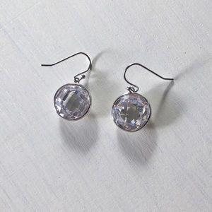 Jewelry - Classy 925 Sterling Silver Gemstone Drop Earrings